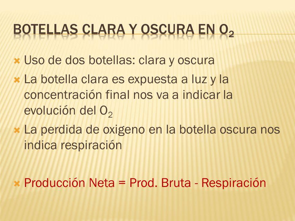 Botellas Clara y oscura en O2