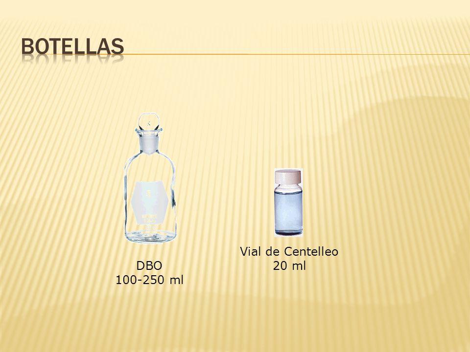Botellas Vial de Centelleo 20 ml DBO 100-250 ml