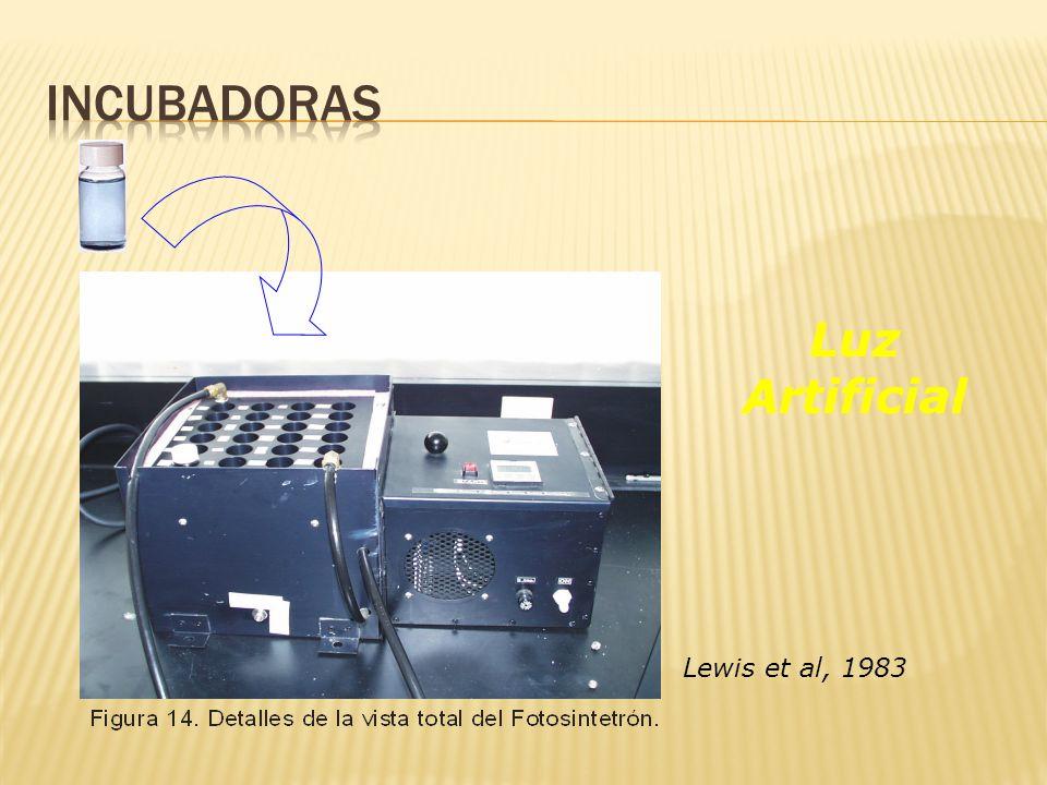 Incubadoras Luz Artificial Lewis et al, 1983