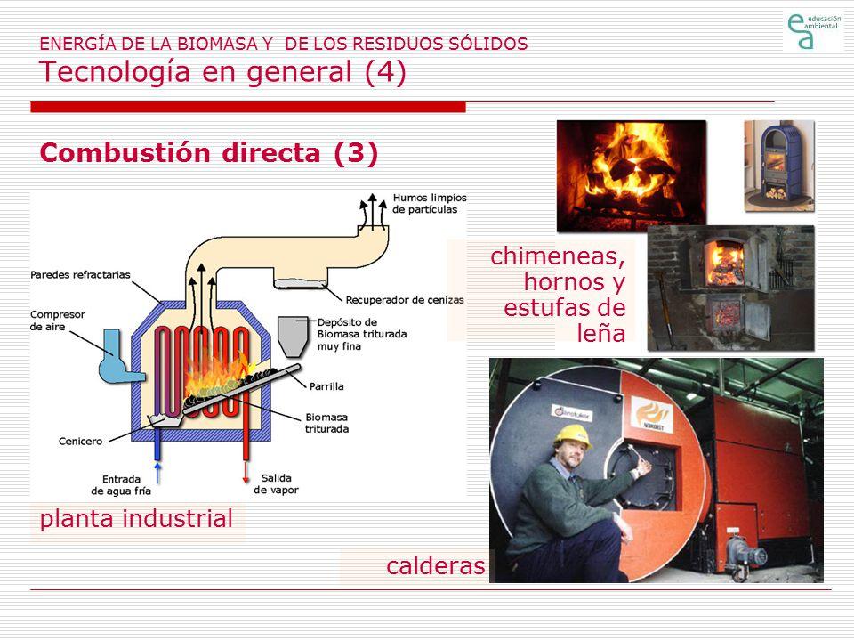 Combustión directa (3) chimeneas, hornos y estufas de leña