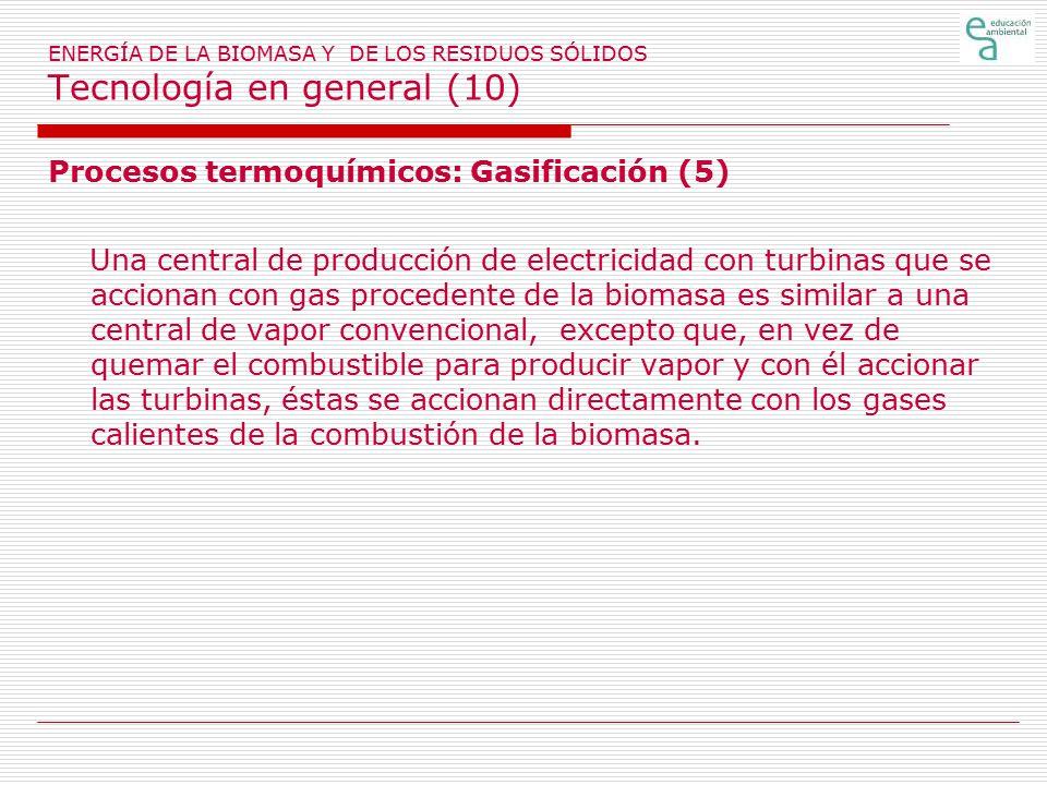 Procesos termoquímicos: Gasificación (5)
