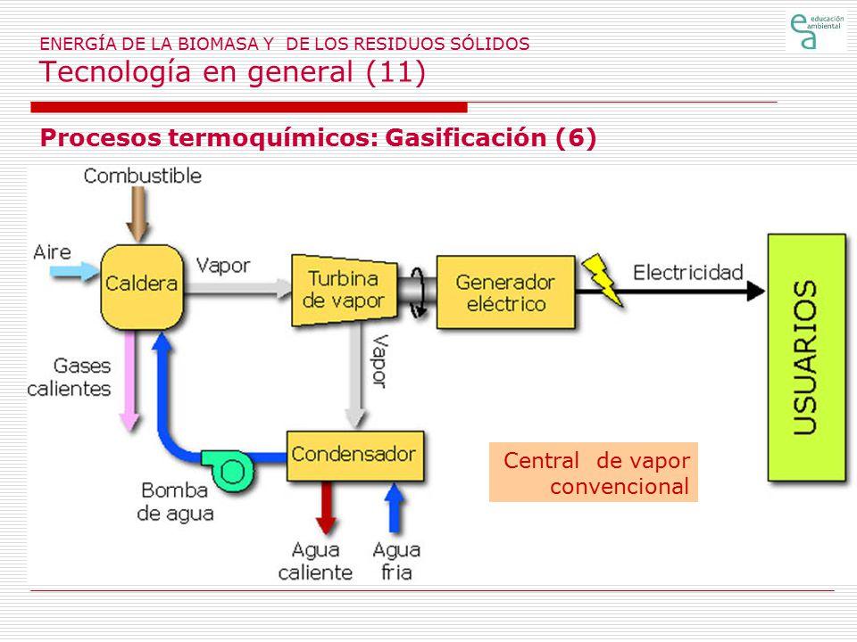 Procesos termoquímicos: Gasificación (6)