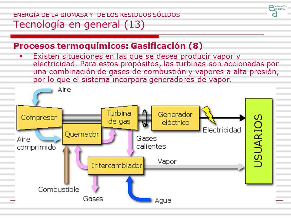Procesos termoquímicos: Gasificación (8)