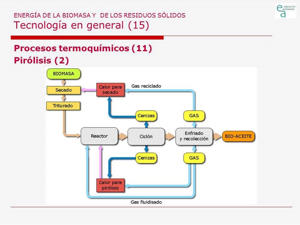 Procesos termoquímicos (11) Pirólisis (2)