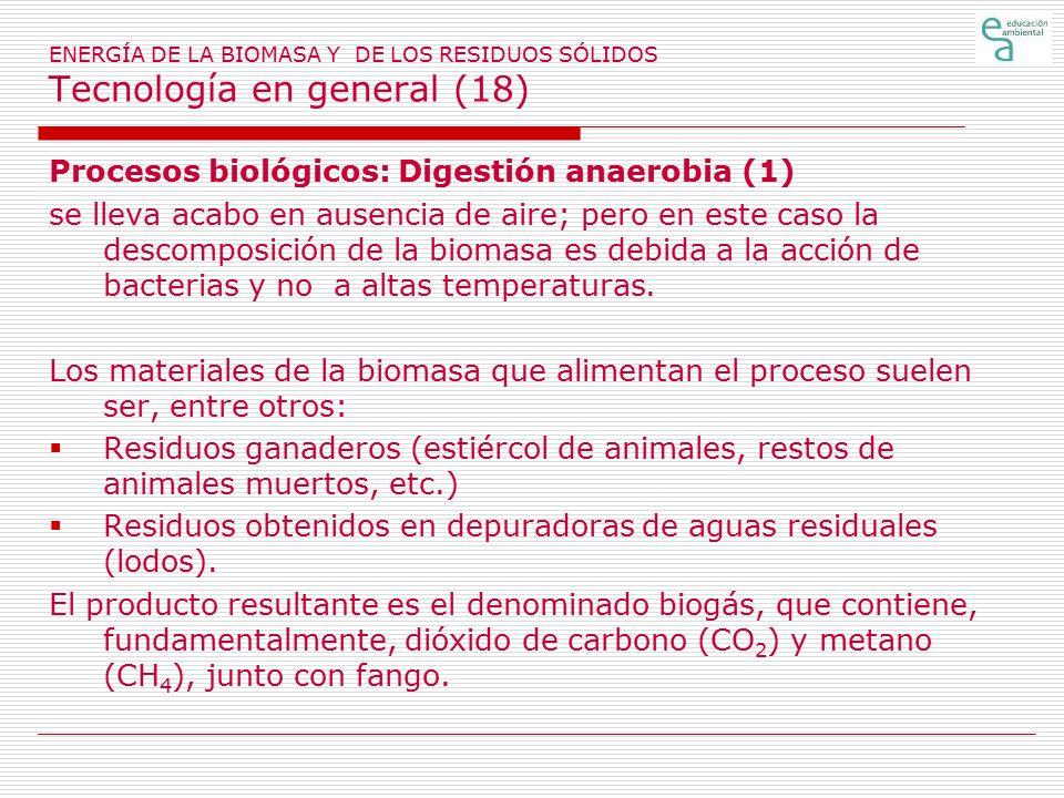 Procesos biológicos: Digestión anaerobia (1)