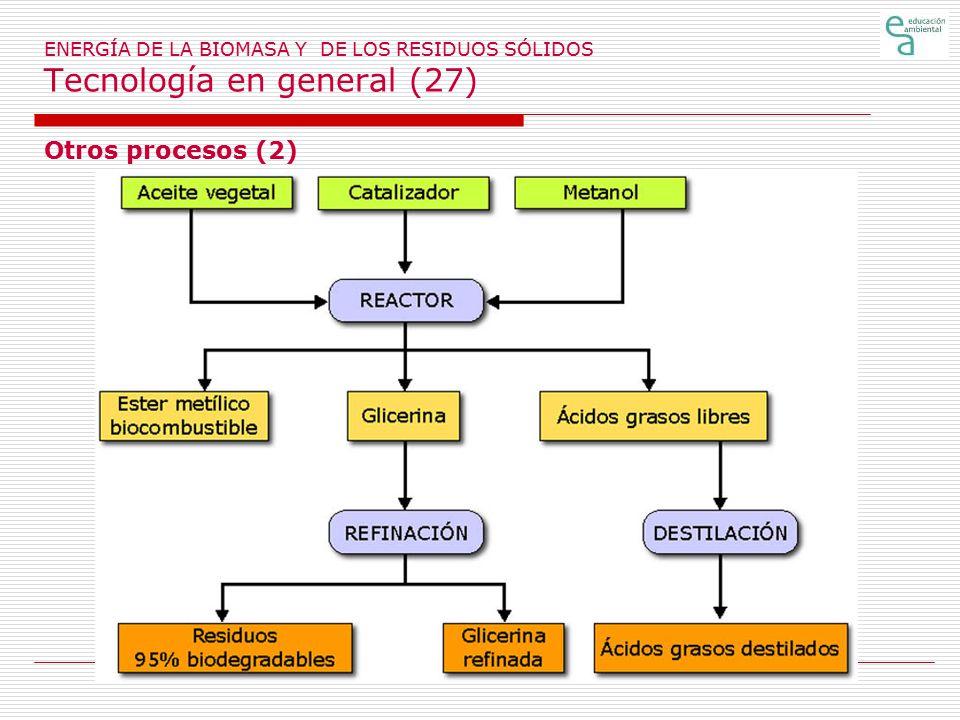 ENERGÍA DE LA BIOMASA Y DE LOS RESIDUOS SÓLIDOS Tecnología en general (27)
