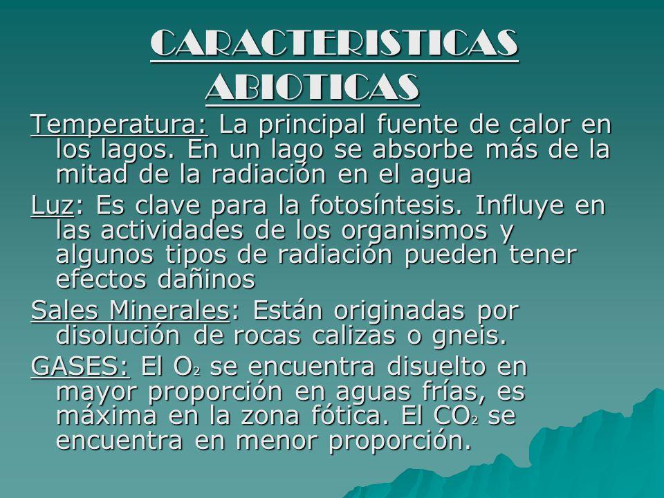 CARACTERISTICAS ABIOTICAS