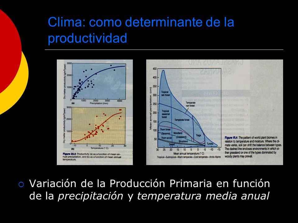 Clima: como determinante de la productividad