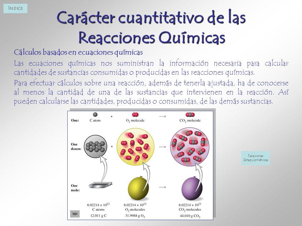 Carácter cuantitativo de las Reacciones Químicas