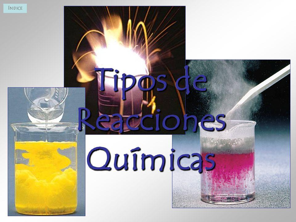 Tipos de Reacciones Químicas Tipos de Reacciones Químicas