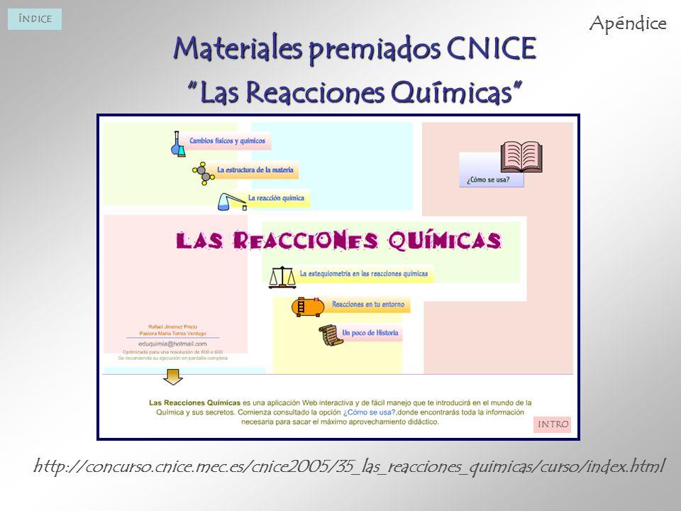 Materiales premiados CNICE