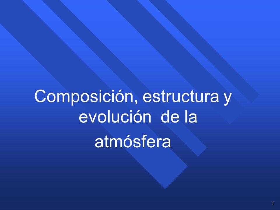 Composición, estructura y evolución de la atmósfera
