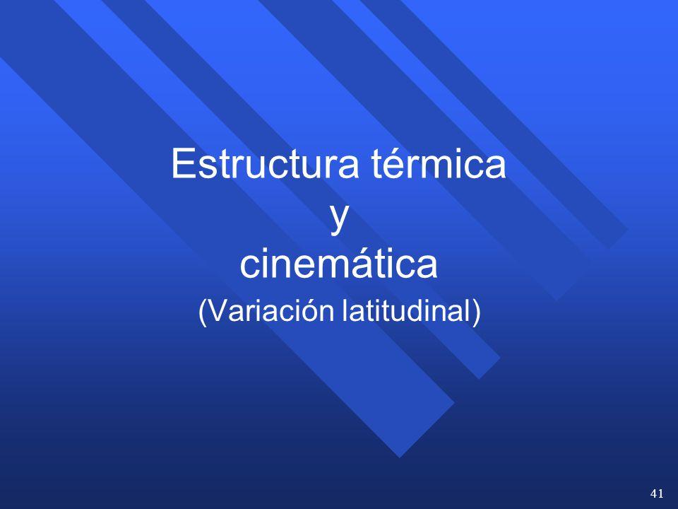 Estructura térmica y cinemática
