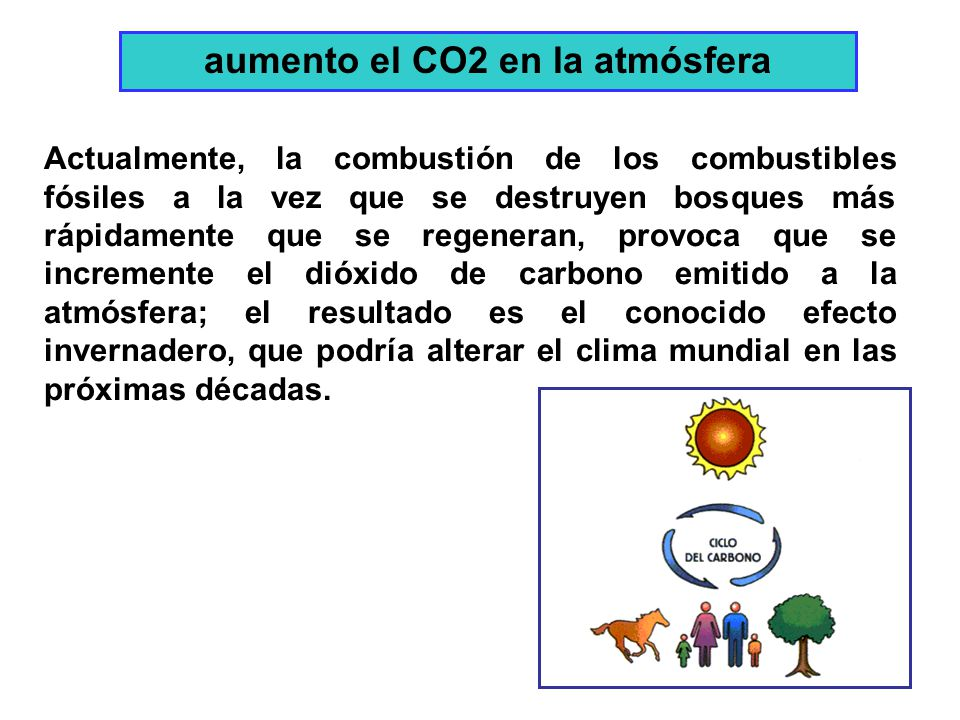 aumento el CO2 en la atmósfera