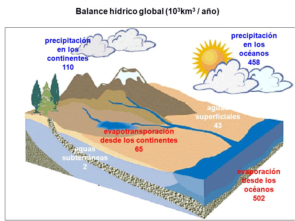 Balance hídrico global (103km3 / año)