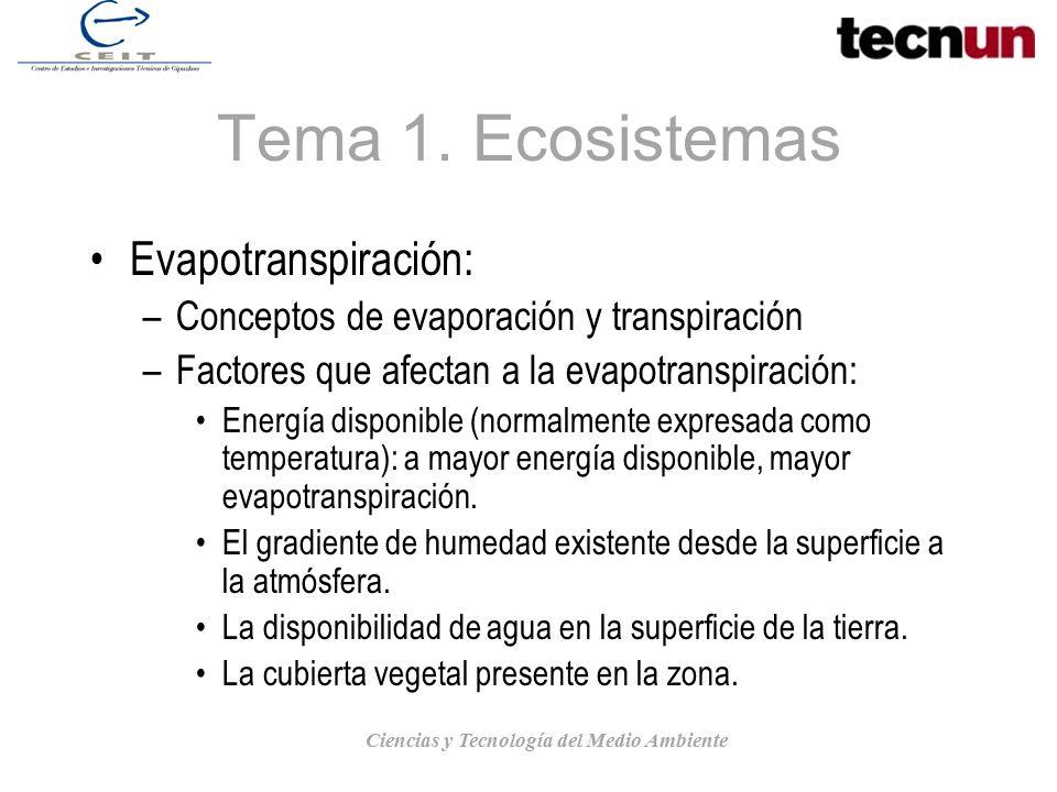 Ciencias y Tecnología del Medio Ambiente
