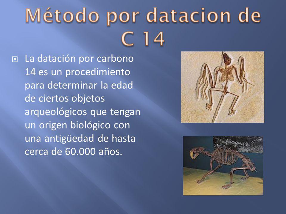 Método por datacion de C 14