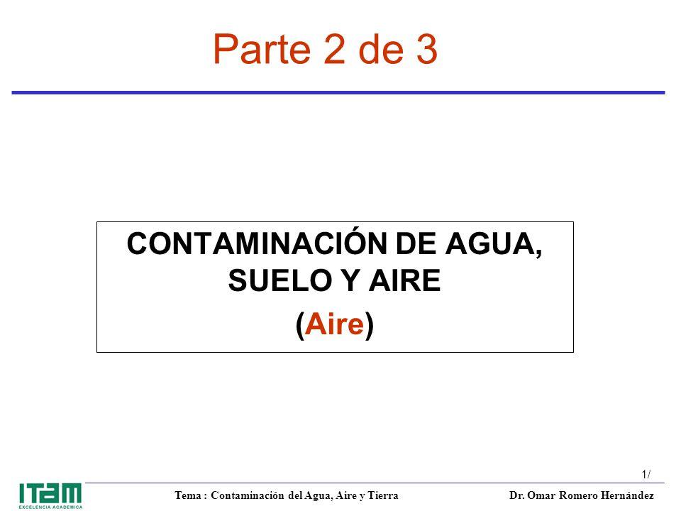 CONTAMINACIÓN DE AGUA, SUELO Y AIRE (Aire)