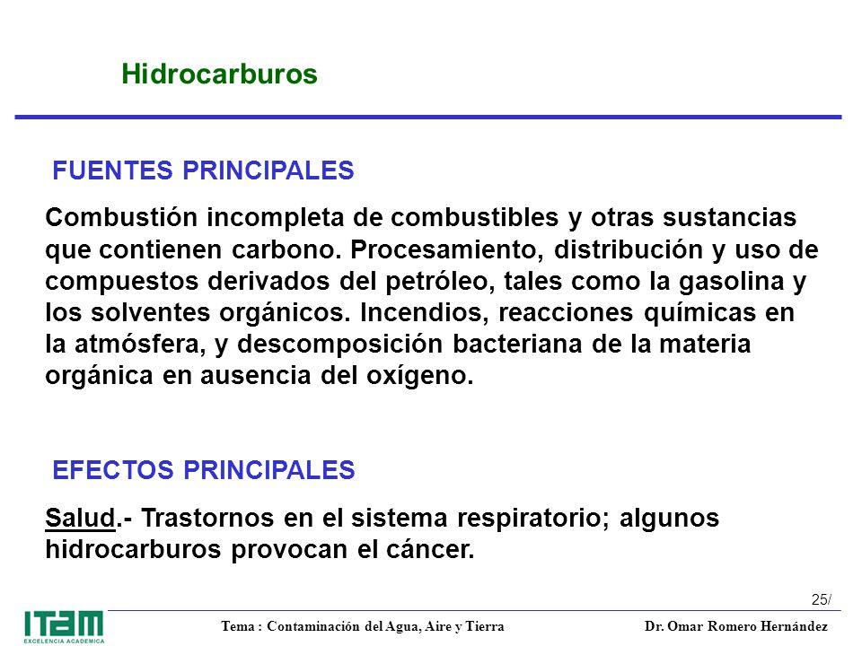 Hidrocarburos FUENTES PRINCIPALES