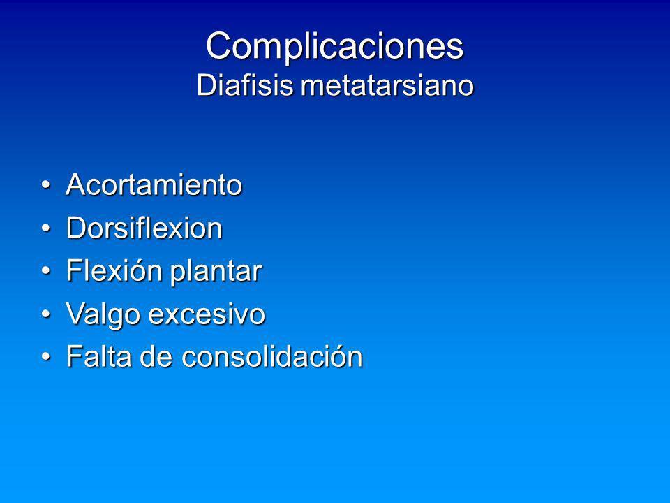 Complicaciones Diafisis metatarsiano