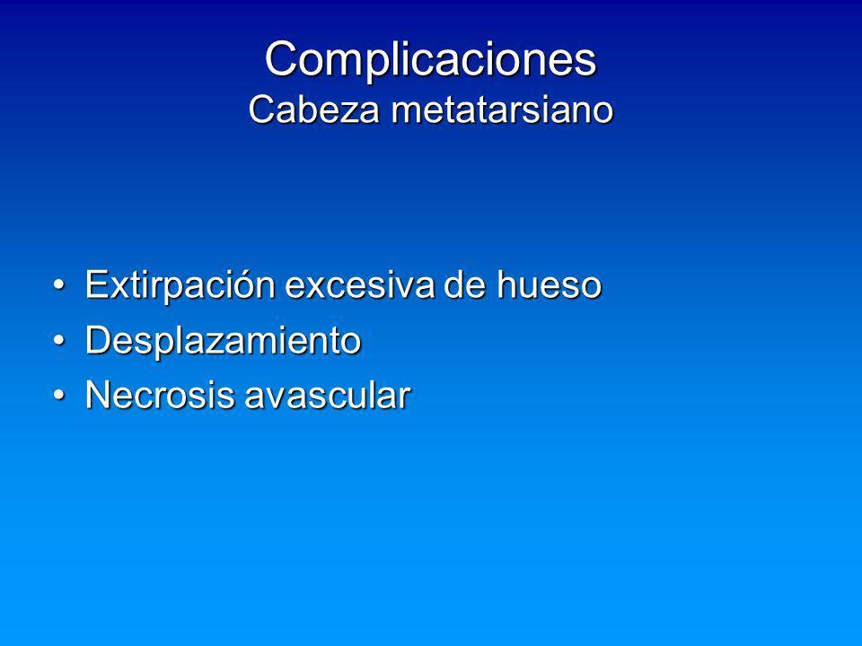Complicaciones Cabeza metatarsiano