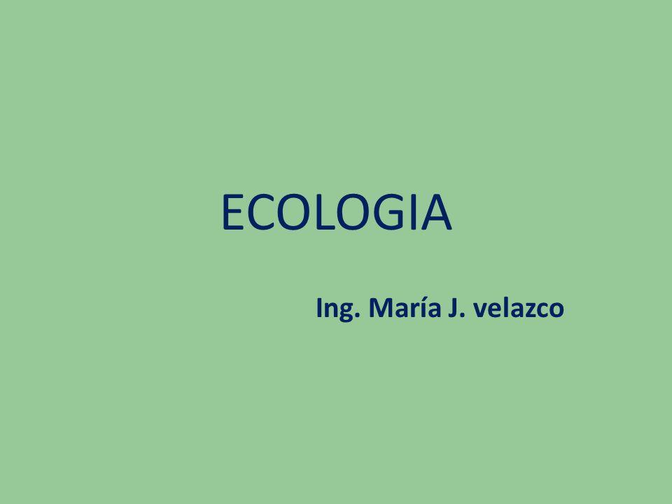 ECOLOGIA Ing. María J. velazco