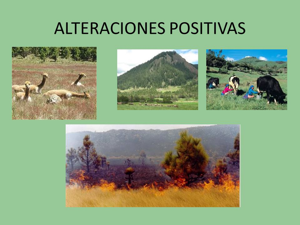 ALTERACIONES POSITIVAS