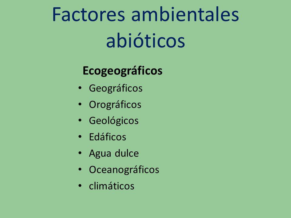 Factores ambientales abióticos