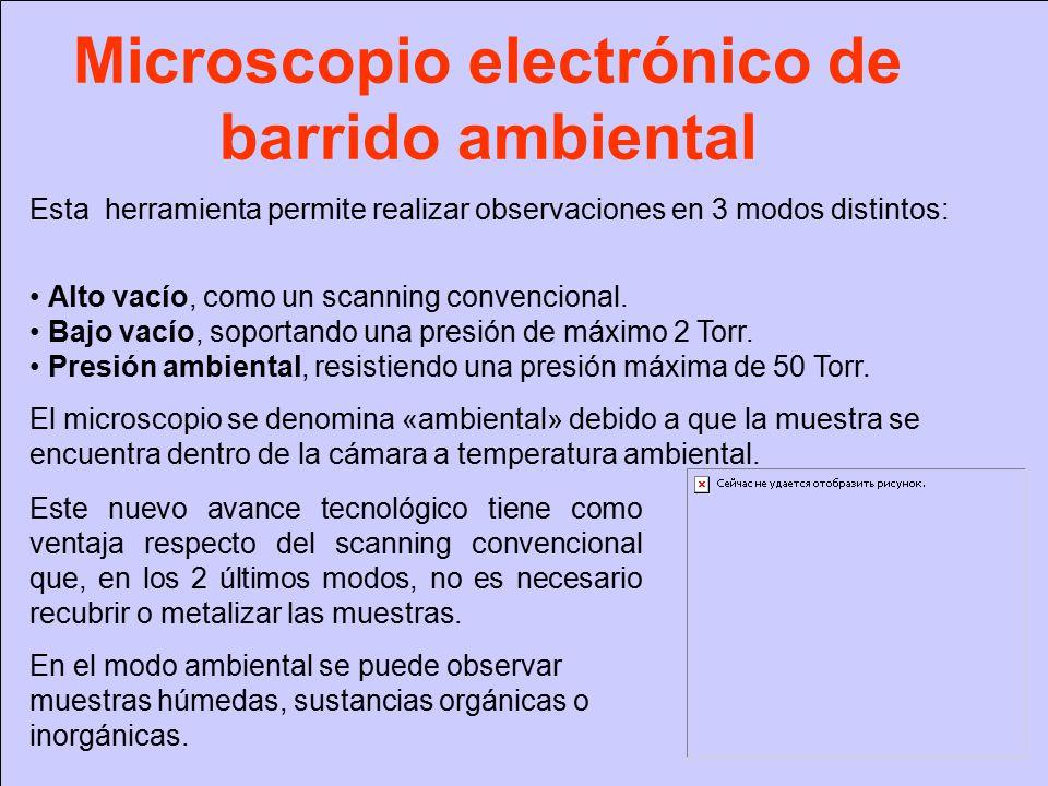 Microscopio electrónico de barrido ambiental