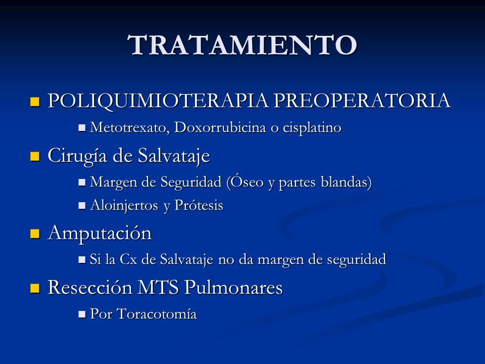 TRATAMIENTO POLIQUIMIOTERAPIA PREOPERATORIA Cirugía de Salvataje