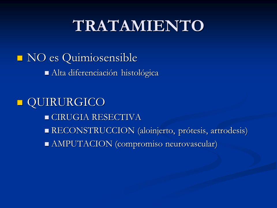 TRATAMIENTO NO es Quimiosensible QUIRURGICO
