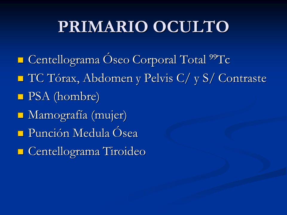 PRIMARIO OCULTO Centellograma Óseo Corporal Total 99Tc
