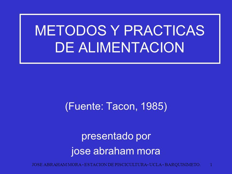 METODOS Y PRACTICAS DE ALIMENTACION