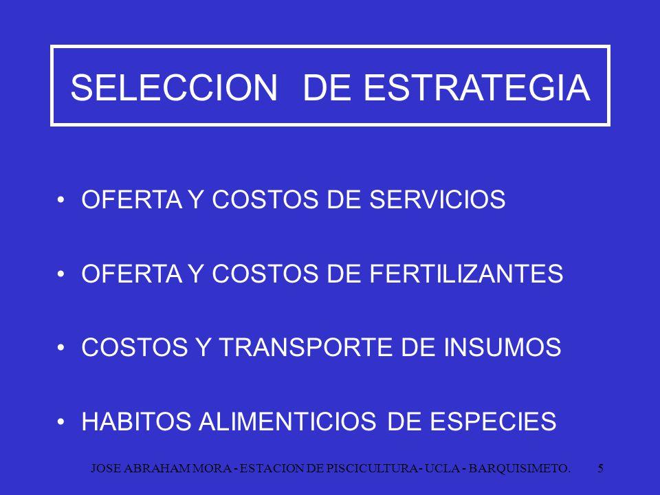 SELECCION DE ESTRATEGIA