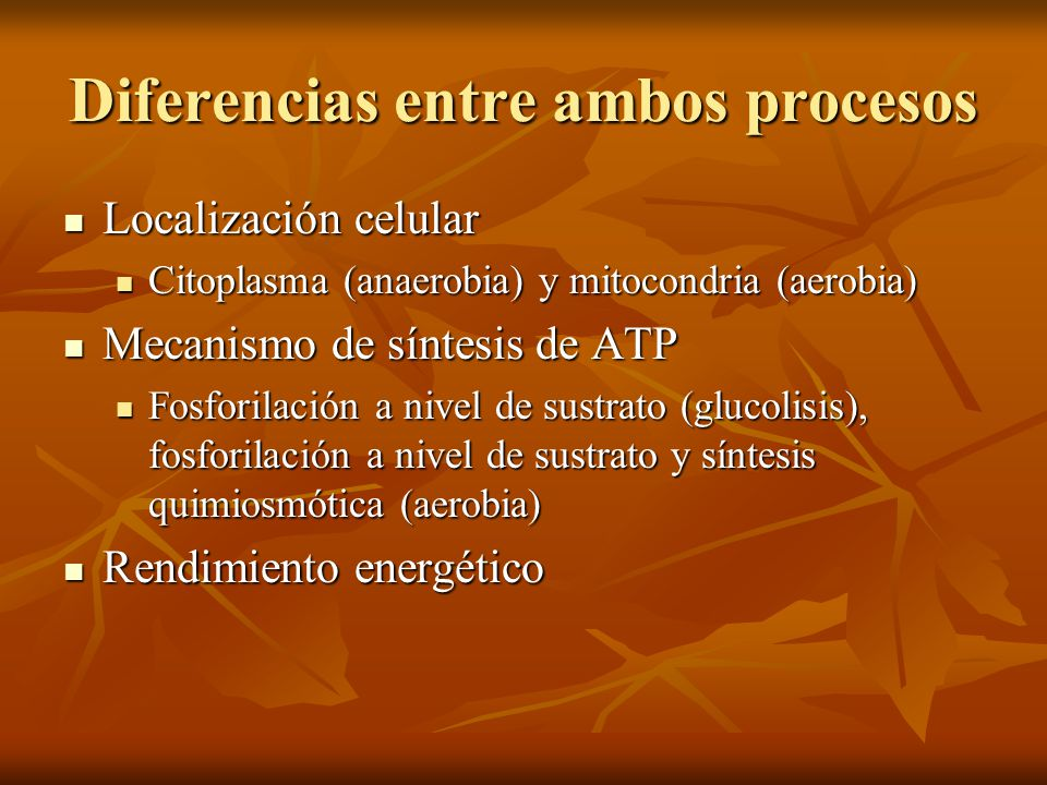 Diferencias entre ambos procesos