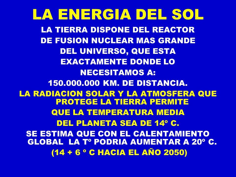 LA ENERGIA DEL SOL LA TIERRA DISPONE DEL REACTOR