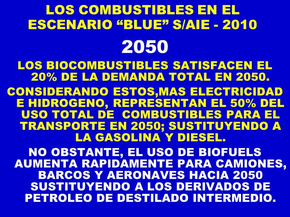 LOS COMBUSTIBLES EN EL ESCENARIO BLUE S/AIE - 2010