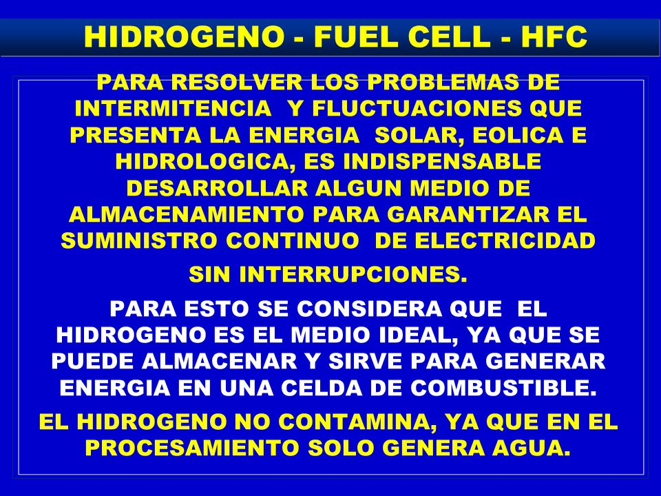 HIDROGENO - FUEL CELL - HFC