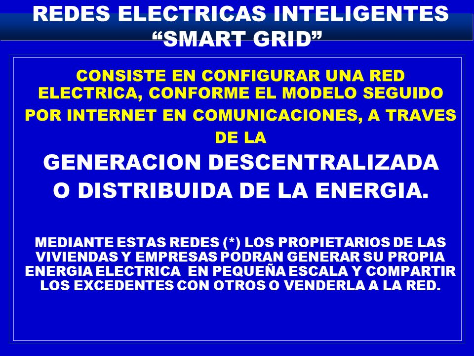 REDES ELECTRICAS INTELIGENTES SMART GRID