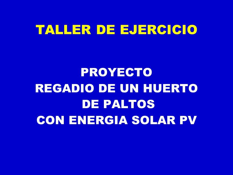 TALLER DE EJERCICIO PROYECTO REGADIO DE UN HUERTO DE PALTOS