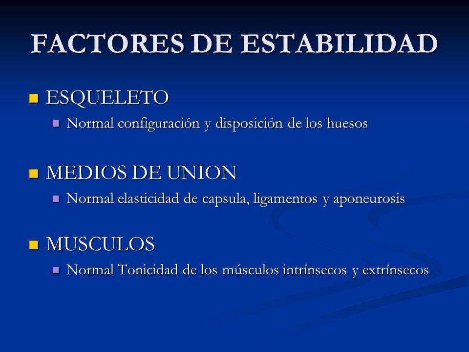 FACTORES DE ESTABILIDAD