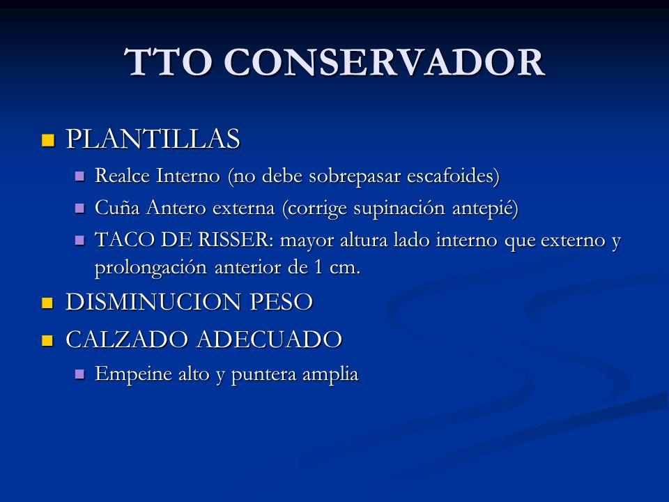 TTO CONSERVADOR PLANTILLAS DISMINUCION PESO CALZADO ADECUADO