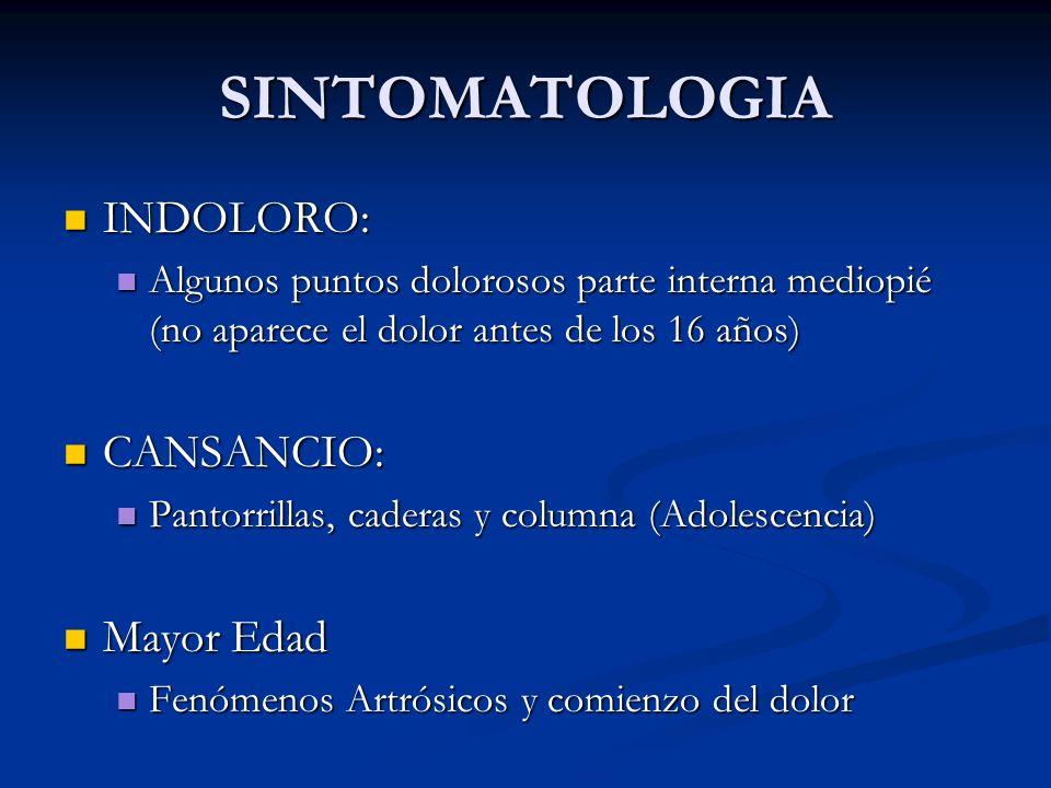 SINTOMATOLOGIA INDOLORO: CANSANCIO: Mayor Edad