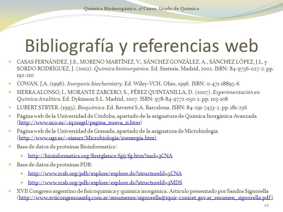 Bibliografía y referencias web
