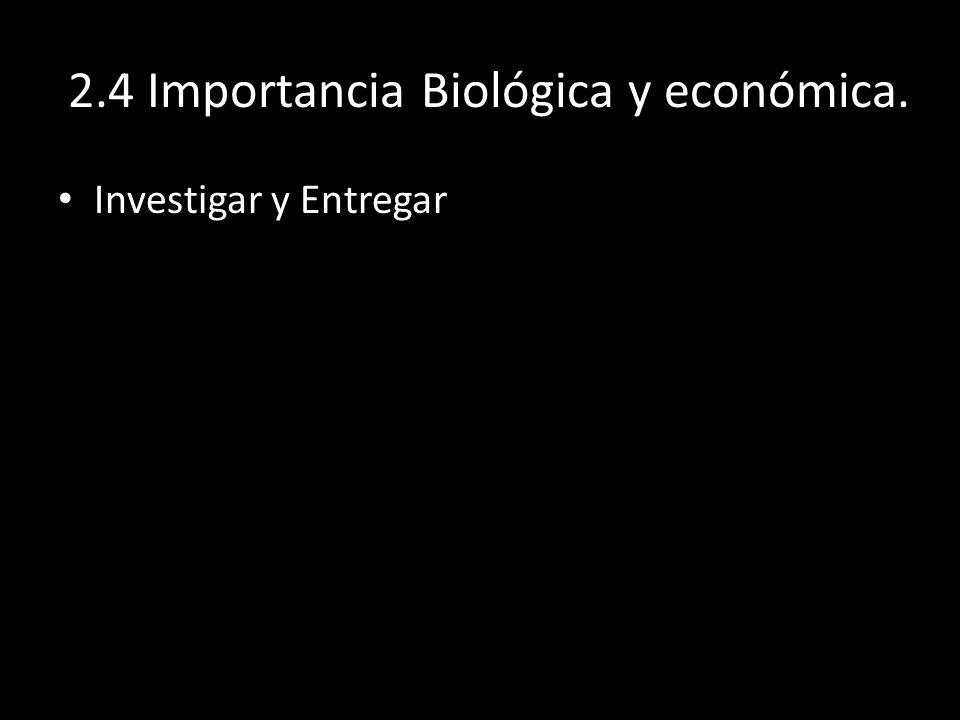 2.4 Importancia Biológica y económica.