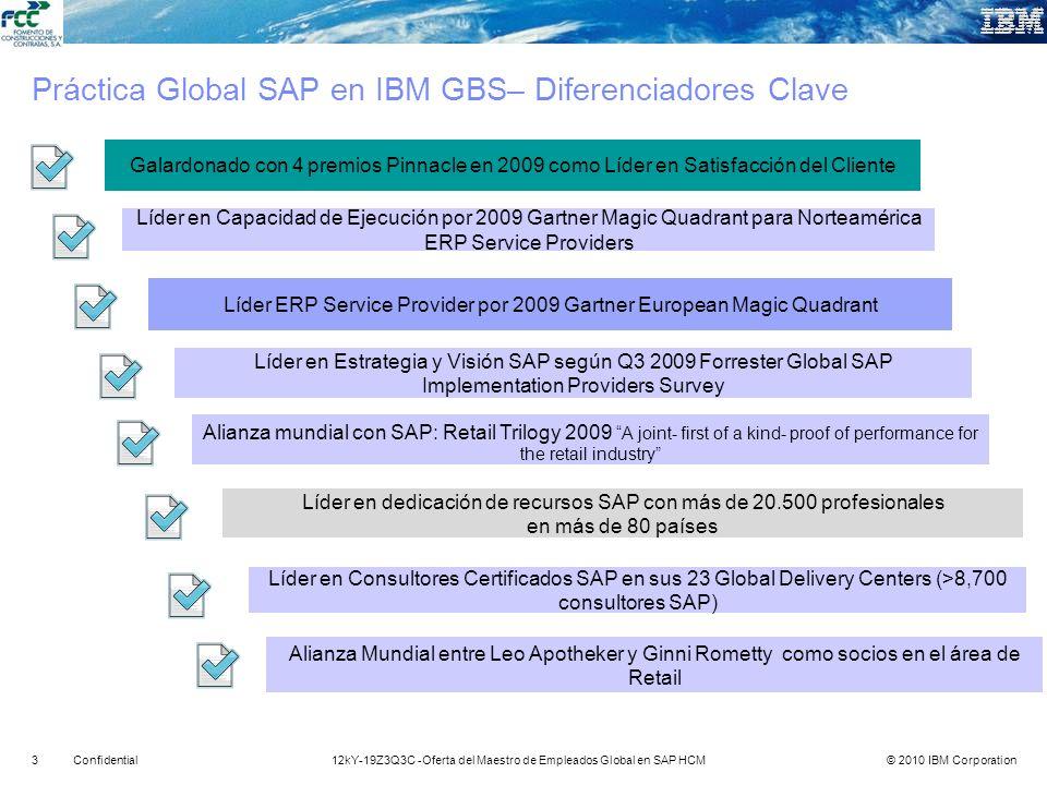 Práctica Global SAP en IBM GBS– Diferenciadores Clave
