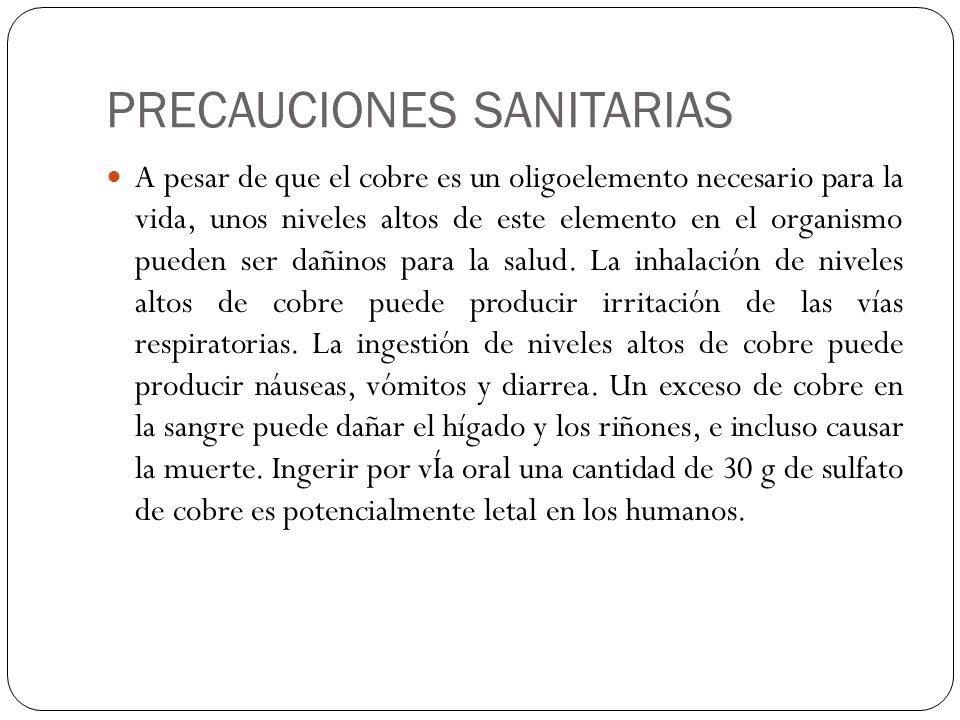 PRECAUCIONES SANITARIAS