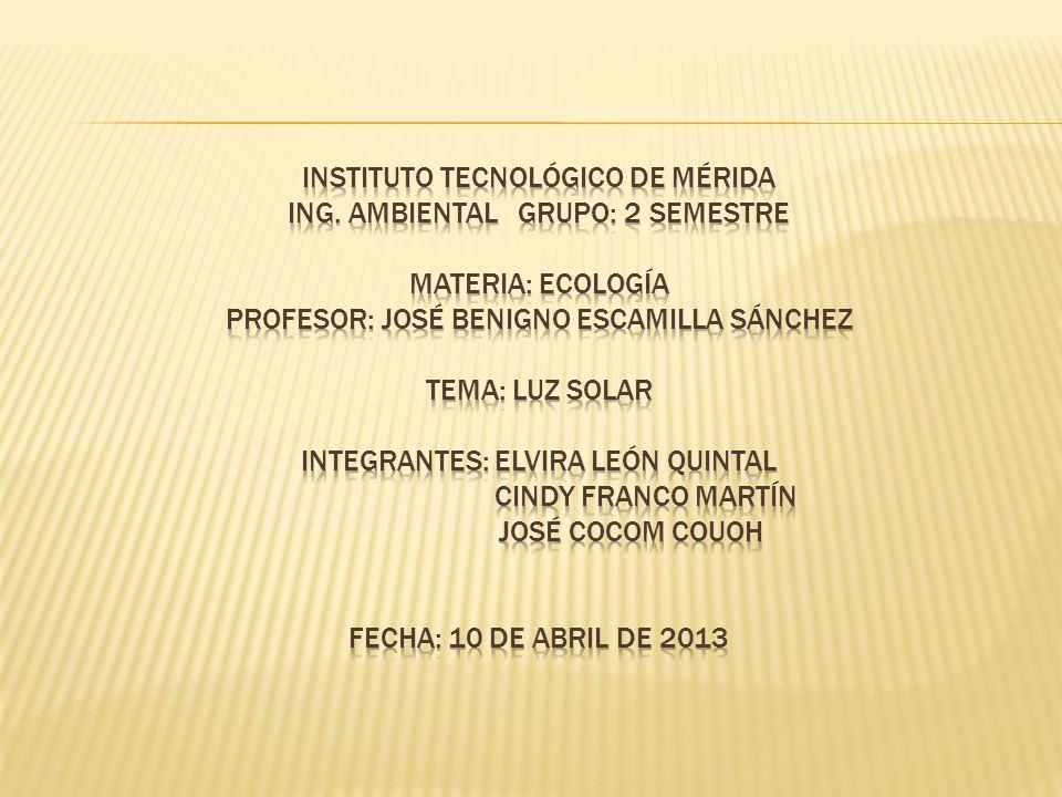 Instituto tecnológico de Mérida Ing