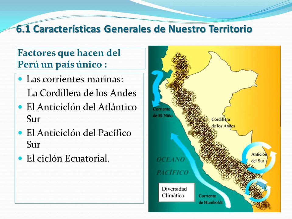 6.1 Características Generales de Nuestro Territorio