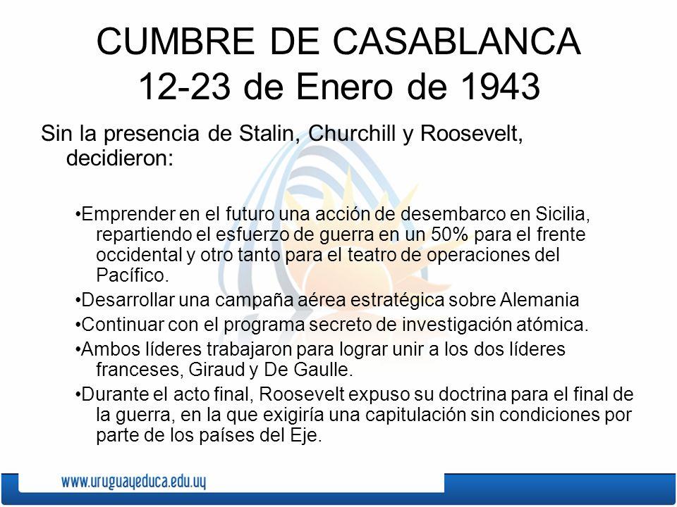 CUMBRE DE CASABLANCA 12-23 de Enero de 1943
